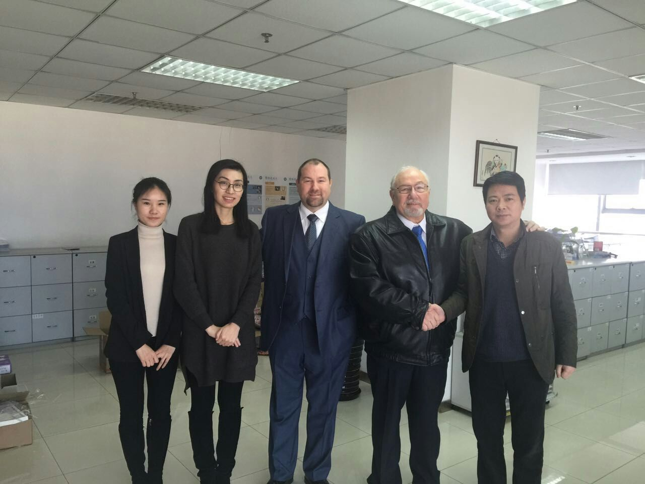 1/22/2016 Jim and Jimbo Savley met with with Match Room Director, Xu, and staff