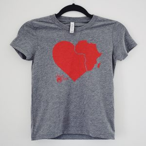 i heart africa tshirt kid